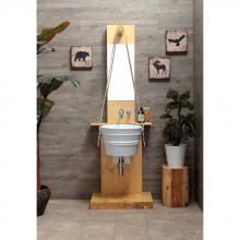Holzschrank für Bacile Waschbecken Pozzo