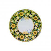 Runde Lavastein-Tischplatte Limoni & Girasoli