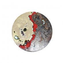 Runde moderne Lavasteintischplatte Red Rocks