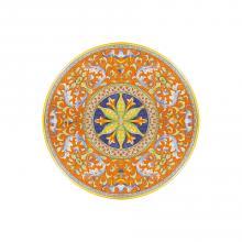 Runde Lavastein-Tischplatte Deruta Antico