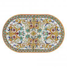 Ovale Lavastein-Tischplatte Ricco Venezia