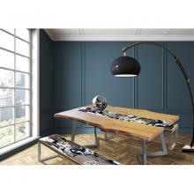 Moderner Tisch aus Holz und eingelassenem Lavastein Life Highlands