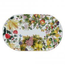 Ovale Lavastein-Tischplatte Inglese