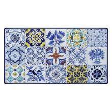 Rechteckige Lavasteinplatte Azulejos
