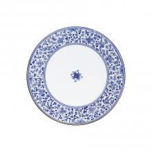 Runde Lavastein-Tischplatte Arabesco Blu