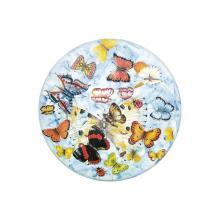 Runde Lavastein-Tischplatte Butterfly