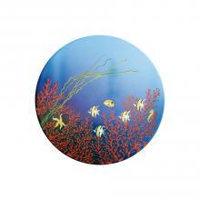 Runde Lavastein-Tischplatte Corallo
