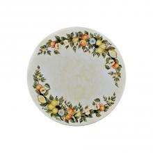 Runde Lavastein-Tischplatte Frutta & Margherite