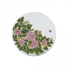 Runde Lavastein-Tischplatte Rose