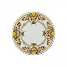 Runde Lavastein-Tischplatte Rose Antiche