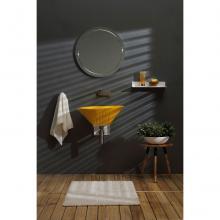 Oval Aufsatzbecken/wandhängend waschbecken Terra Glänzend Sirio Gelb