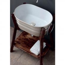 Oval Aufsatzbecken/wandhängend waschbecken Tinozza Satin Silber