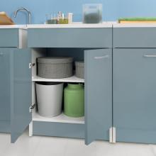 Wäscheschrank mit zwei Türen 60x60