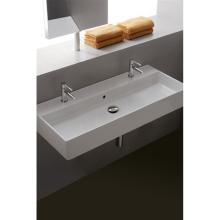 Wand-hing/aufsatz waschbecken  mit zwei Löchern Teorema