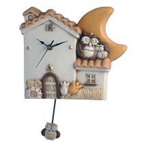 Pendulum Clock House und Eulen
