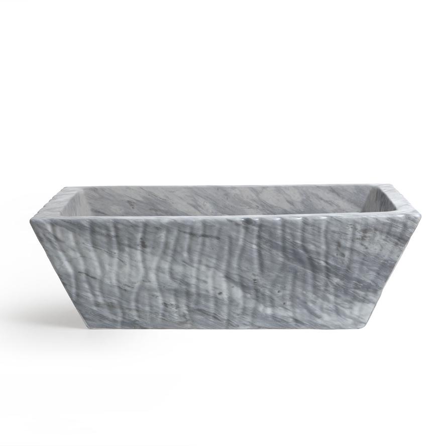 Rechtekig Aufsatzbecken/wandhängend waschbecken Bardiglio