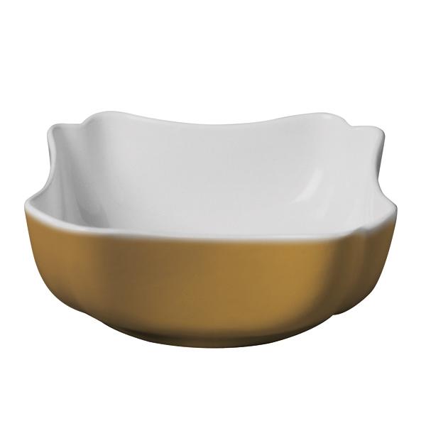 Suppenteller / Brotaufbereiter / Spaghetti Servierteller Weiß/Honig