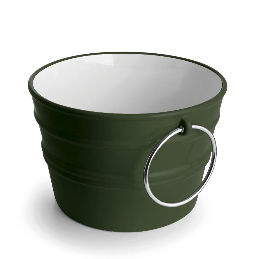 Rundes Aufsatzbecken/wandhängend Waschbecken Bacile Glänzend Englisch Grün