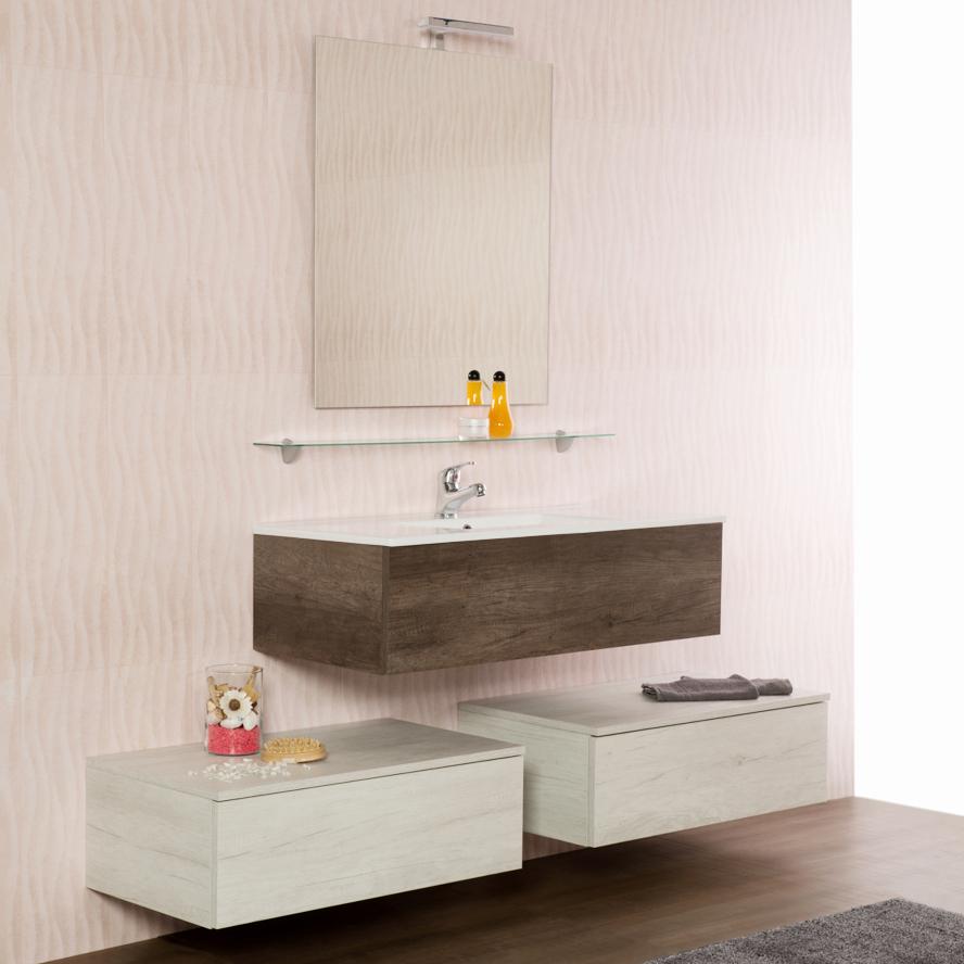 Wandgehängte Badezimmer-Zusammensetzung cm 170 Unika