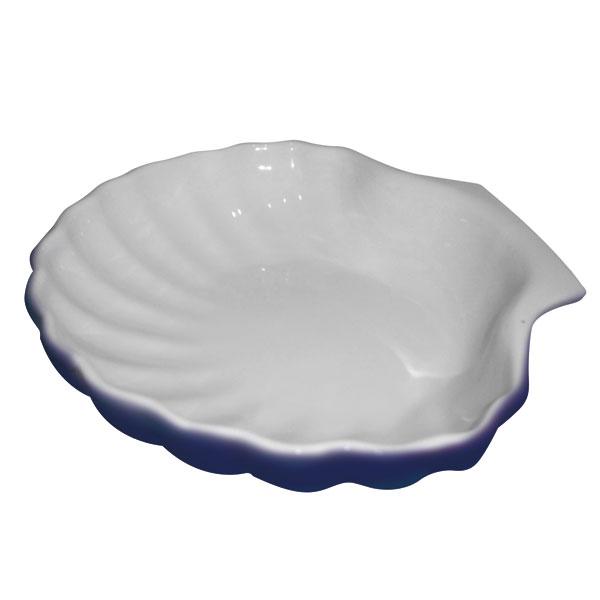 Schale klein Weiß/kobalt