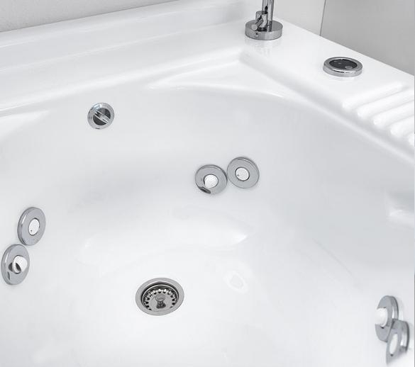 Innenwaschbecken mit Düsen und Wäschekorb 100x55xH89 Active Wash