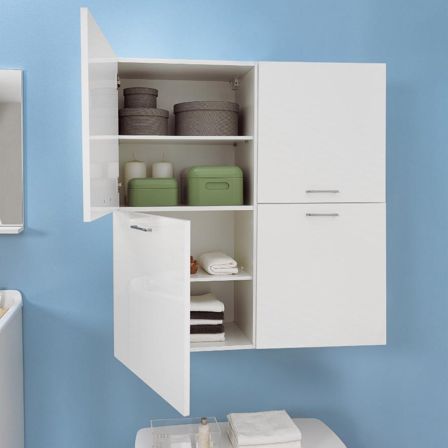 Wäschesäule mit zwei linkes Türen und internen Regalen Brava