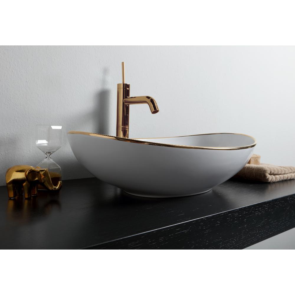 Ovales Aufsatzwaschbecken cm 60x39 Vessel