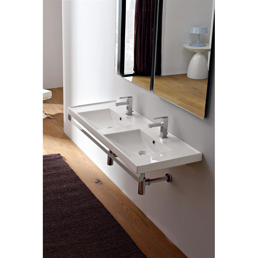 Einbau Oder Wand Hing Waschtisch Doppelwaschbecken Ml Scarabeo Ceramiche Srl