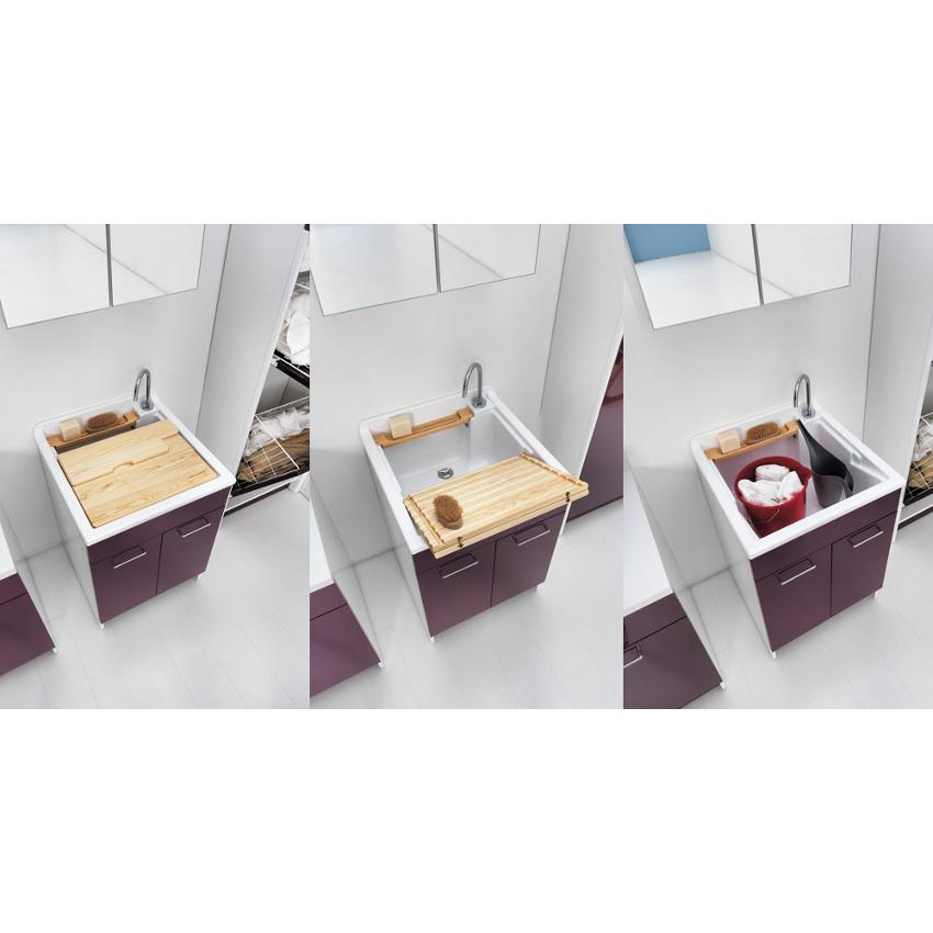 Inner Waschwanne 60x60xH86 mit Waschachse und zwei türen Swash