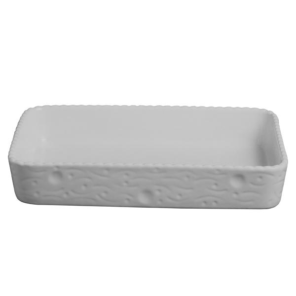 Rechteckigen Bäckers Cordonato Weiß/Weiß