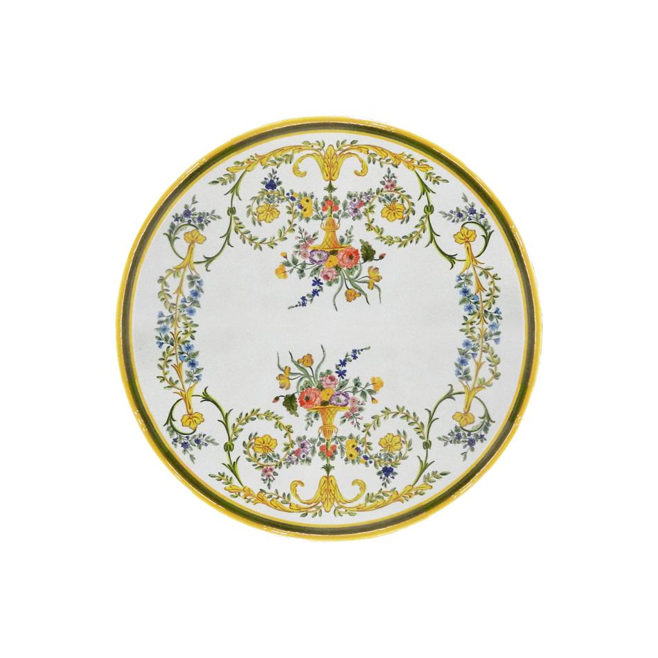 Runde Lavastein-Tischplatte Settecento