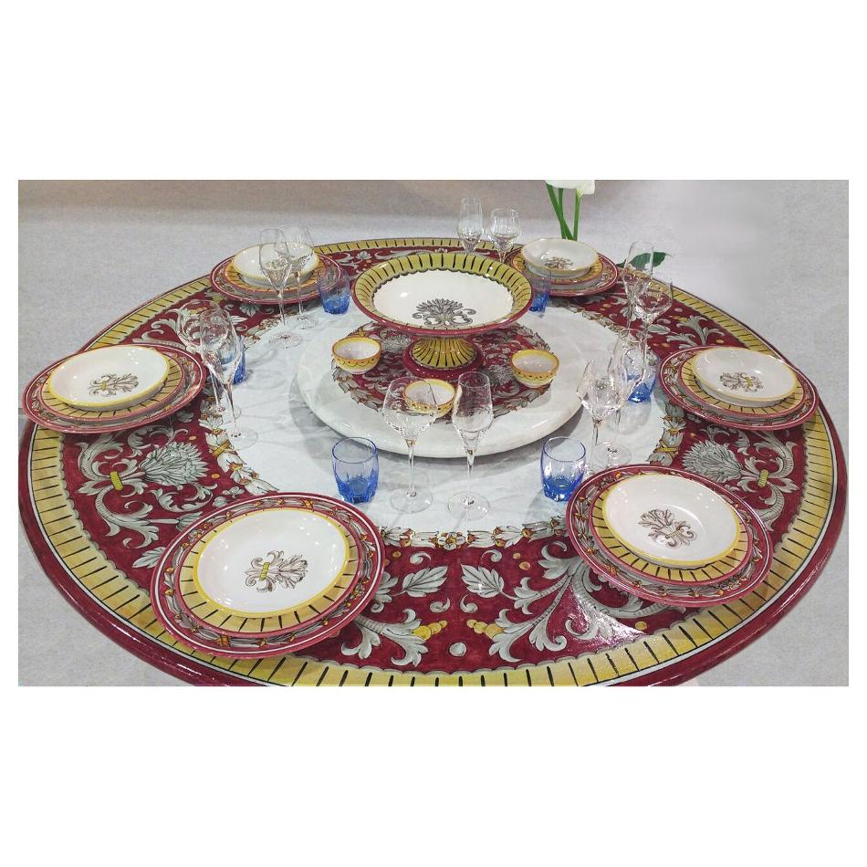 Runde Lavastein-Tischplatte Sabrina