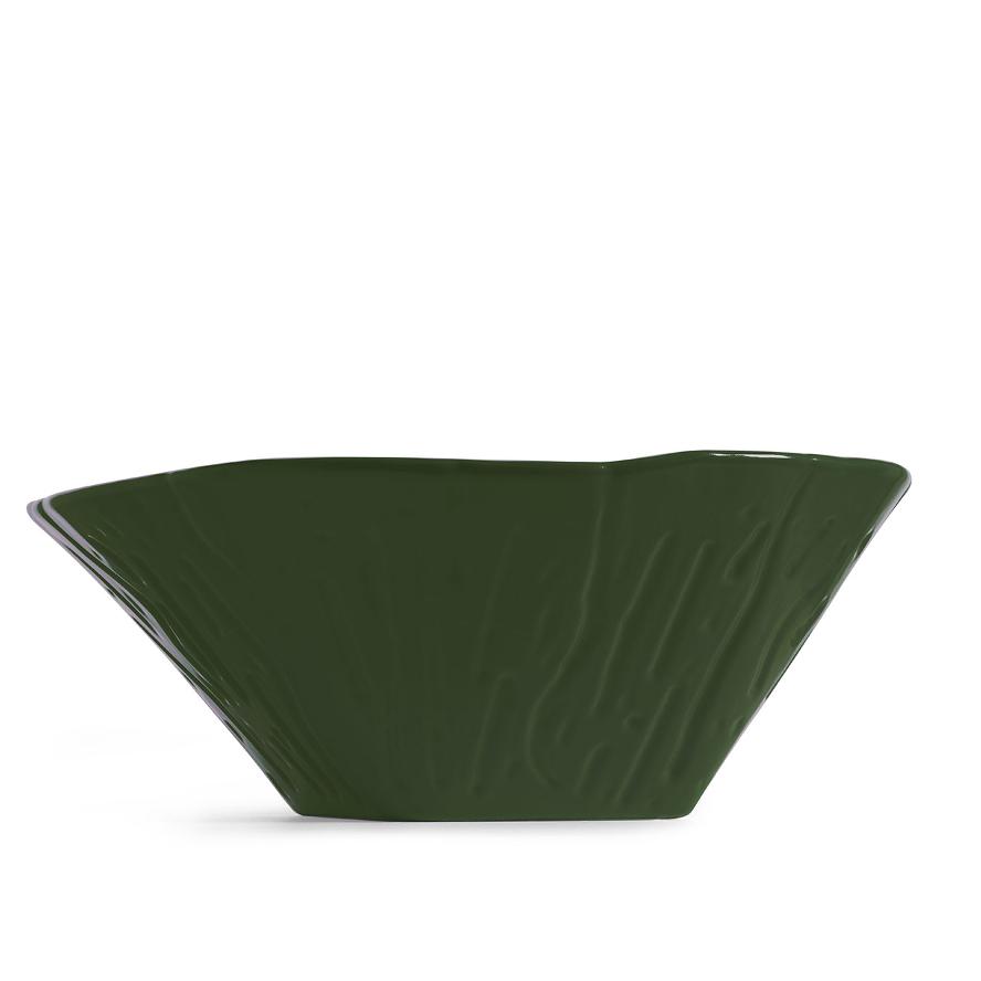Oval Aufsatzbecken/wandhängend waschbecken Terra Glänzen Englisch Grün