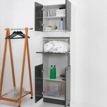 Wäschesäule 4 Türen mit Wäschekorb Brava Anthrazit