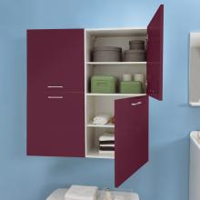 Wäschesäule mit zwei rechten Türen und internen Regalen Brava