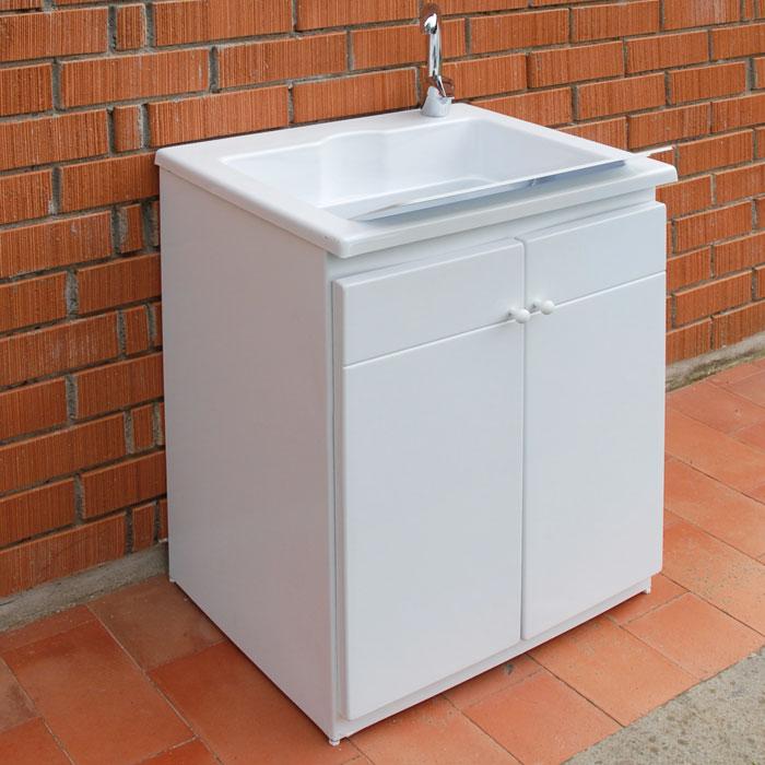 Waschbecken im Freien mit Schrank cm 60x50xH84 Zeus